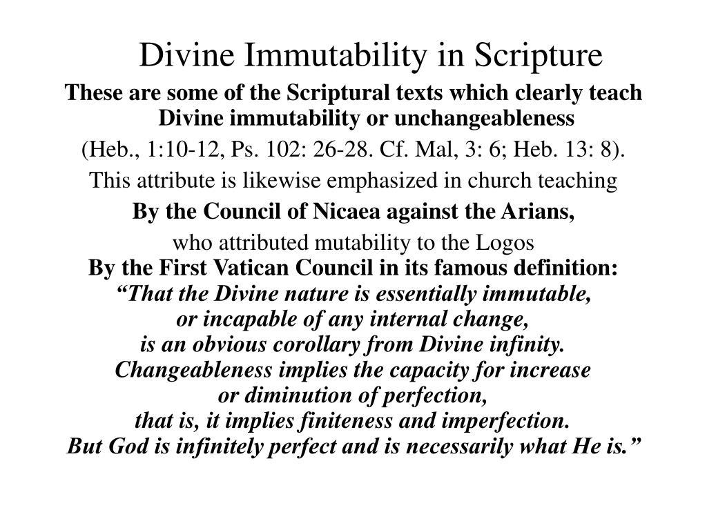 Divine Immutability in Scripture