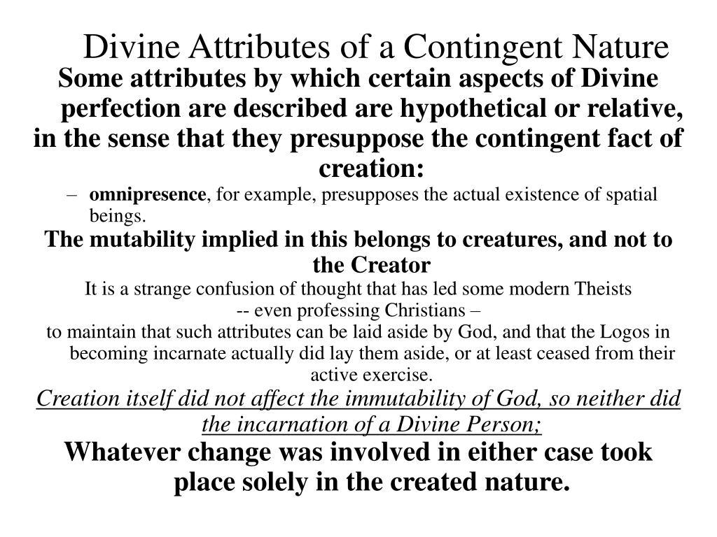 Divine Attributes of a Contingent Nature