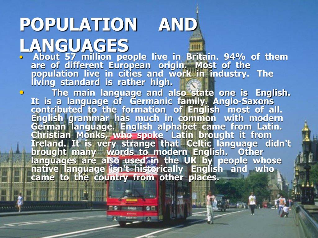 POPULATION    AND   LANGUAGES