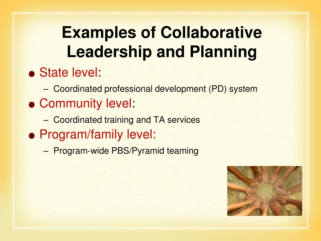 Examples of Collaborative Leadership and Planning