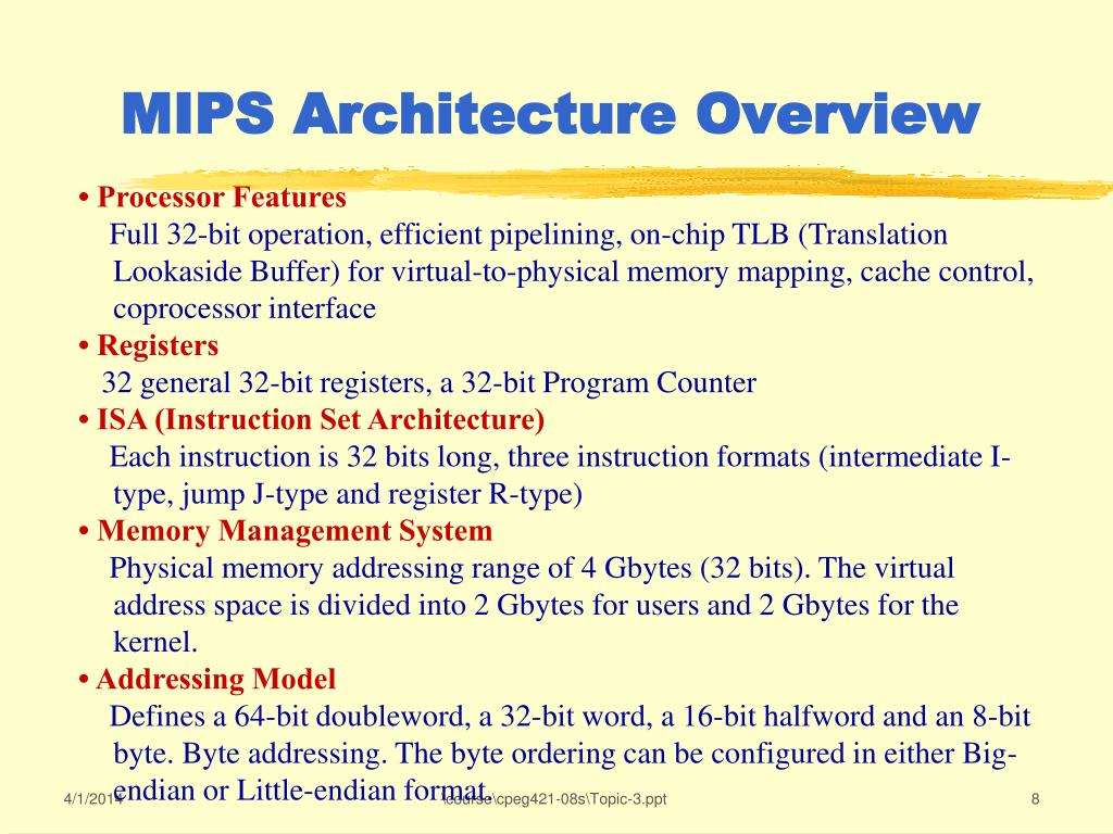 MIPS Architecture Overview