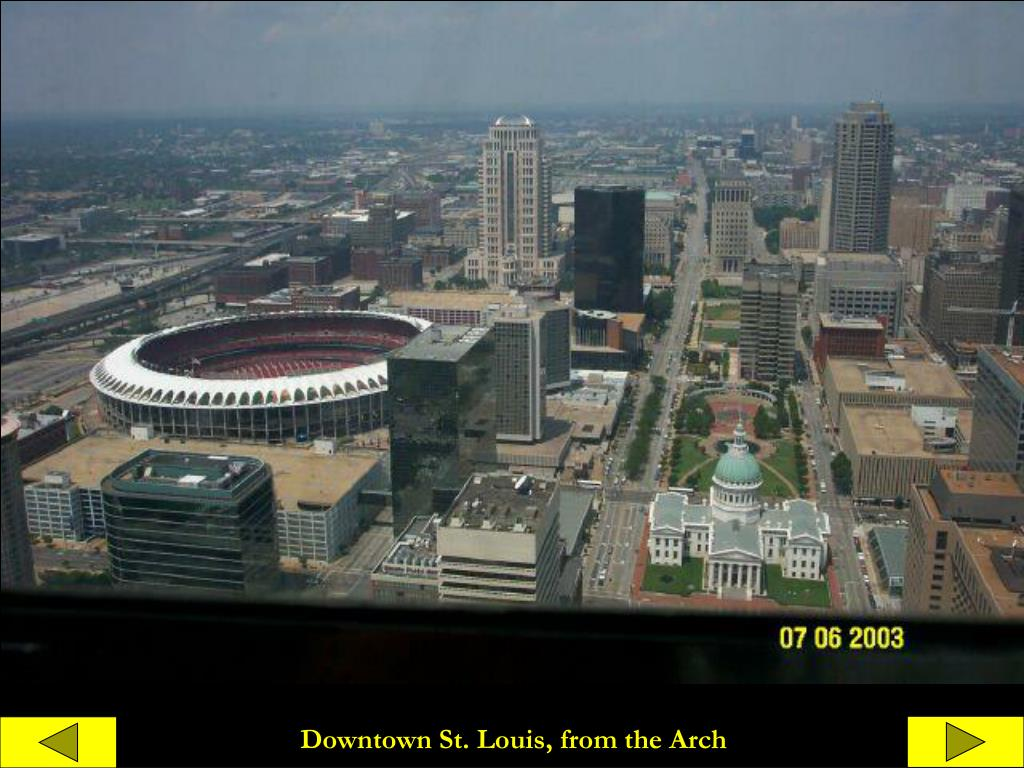 Downtown St. Louis, from the Arch