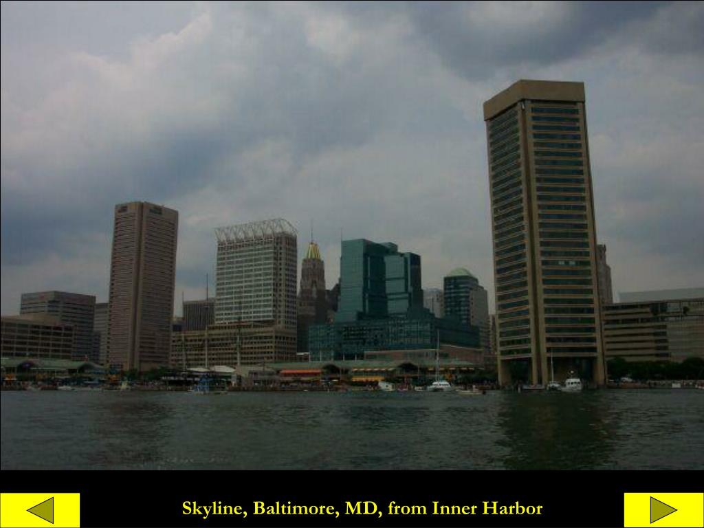 Skyline, Baltimore, MD, from Inner Harbor