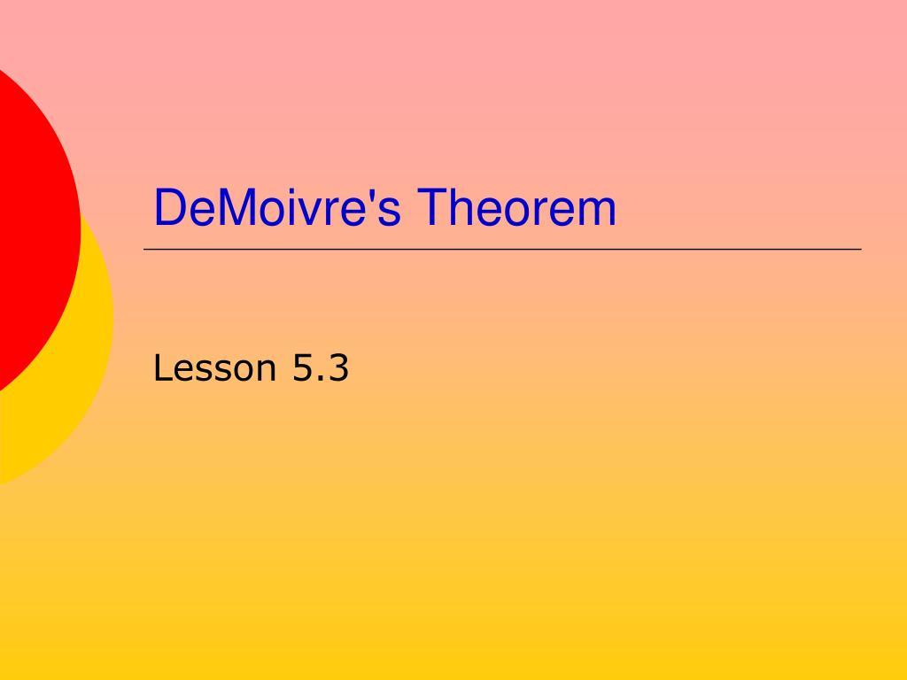 DeMoivre's Theorem