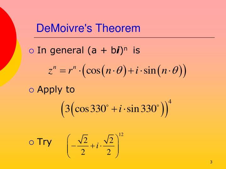 Demoivre s theorem3