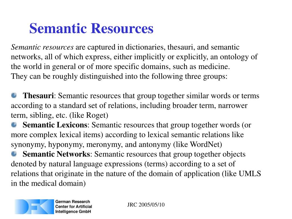 Semantic Resources