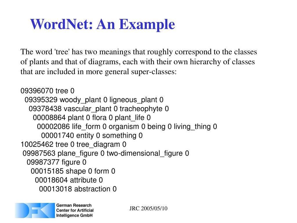 WordNet: An Example