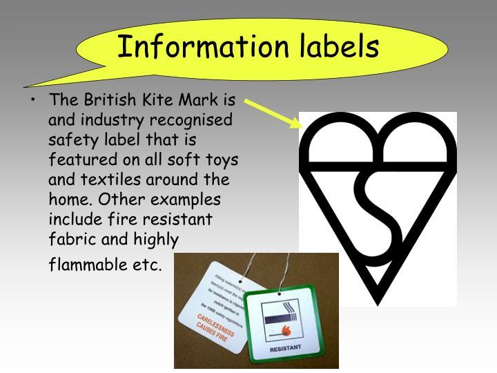 Information labels