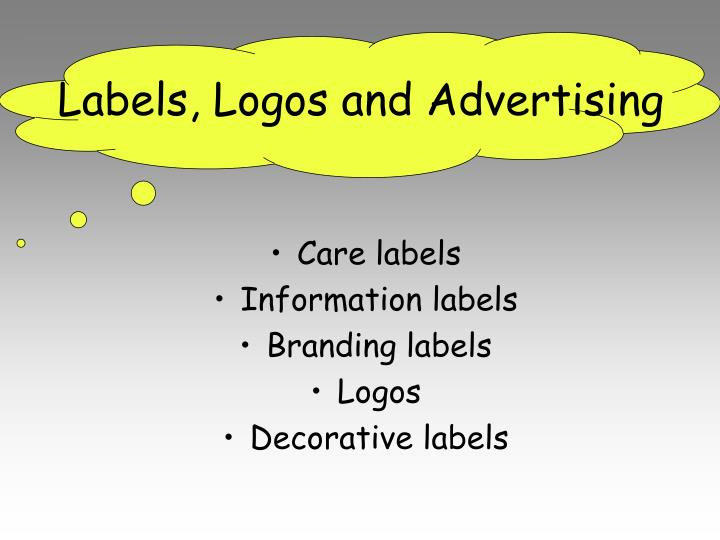Labels, Logos and Advertising