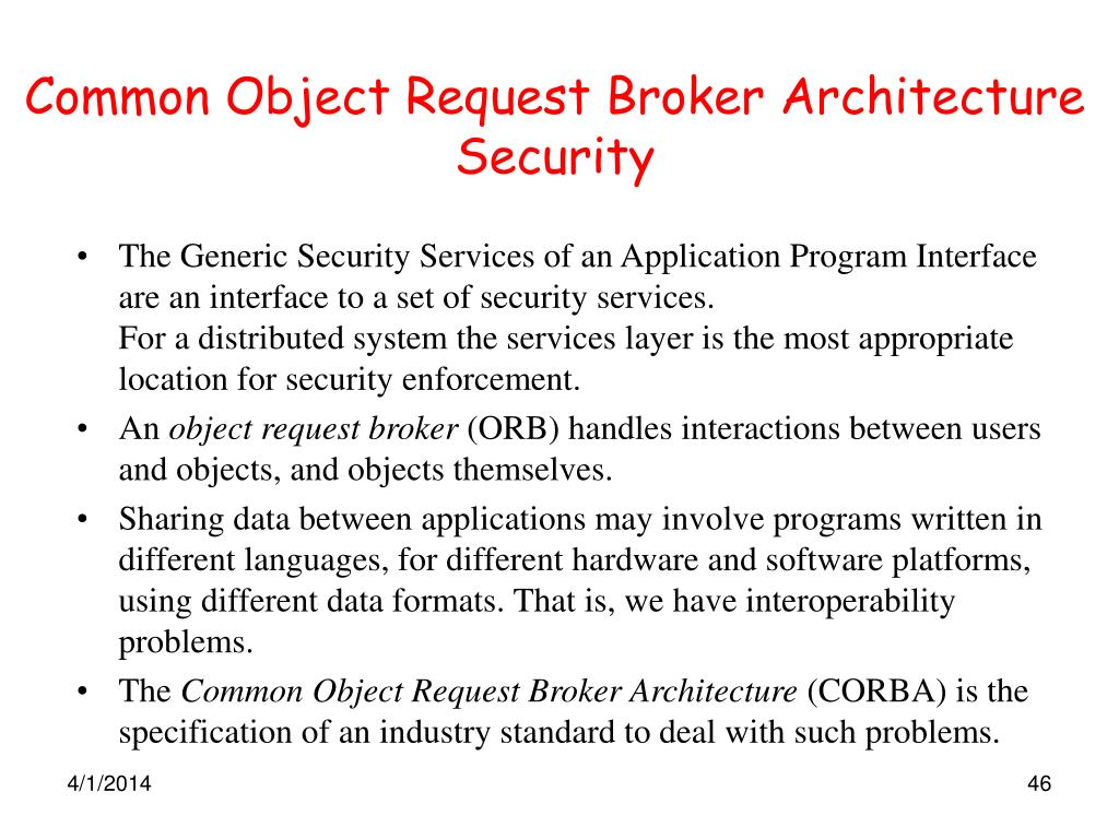 Common Object Request Broker Architecture Security