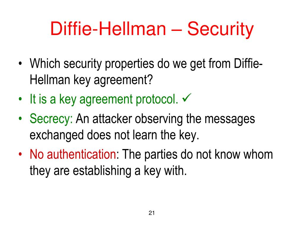 Diffie-Hellman – Security