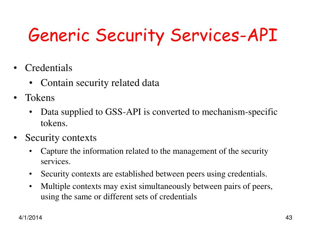 Generic Security Services-API