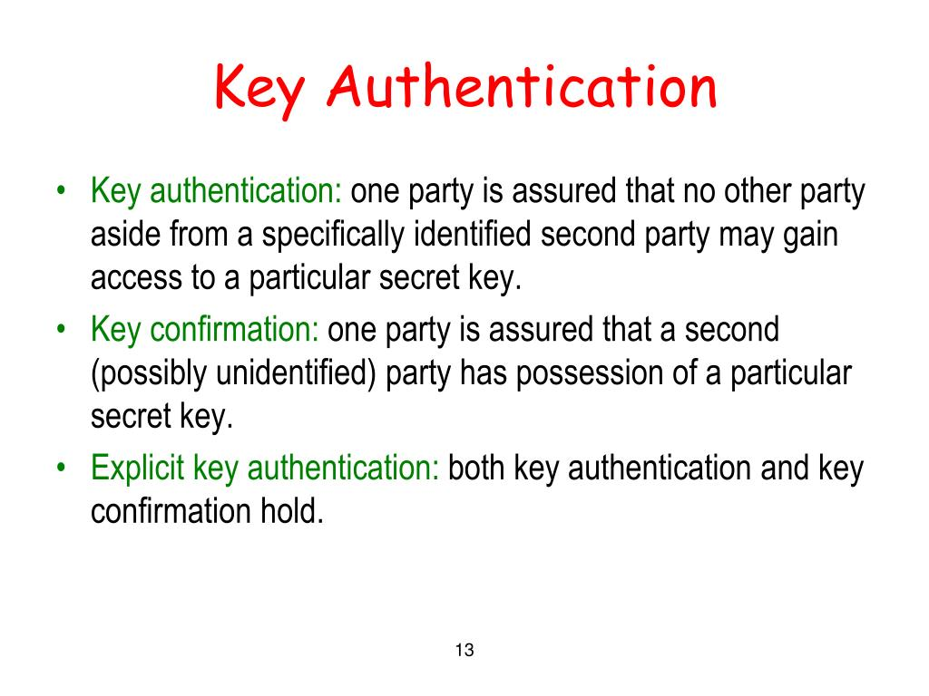 Key Authentication