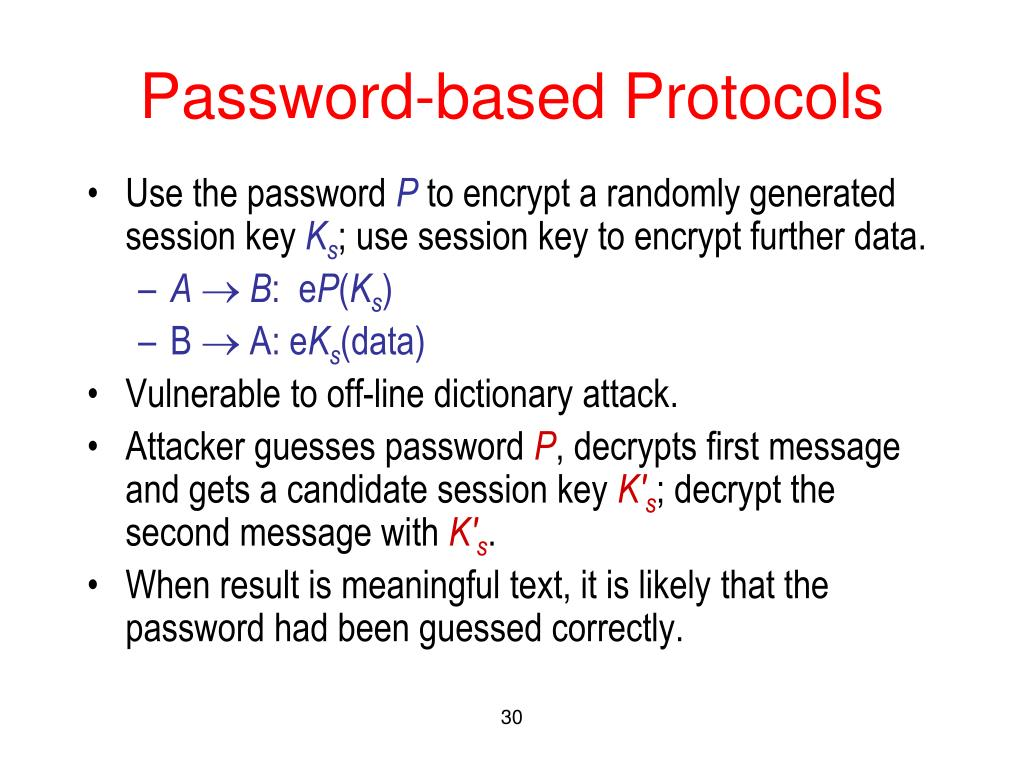 Password-based Protocols
