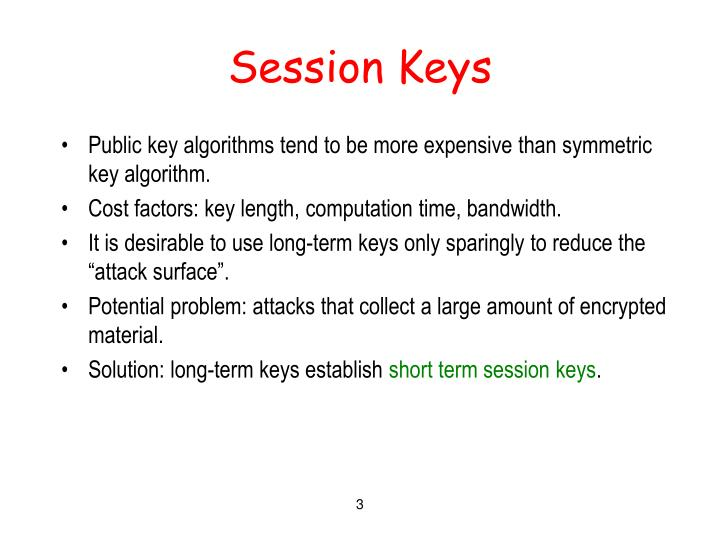 Session keys