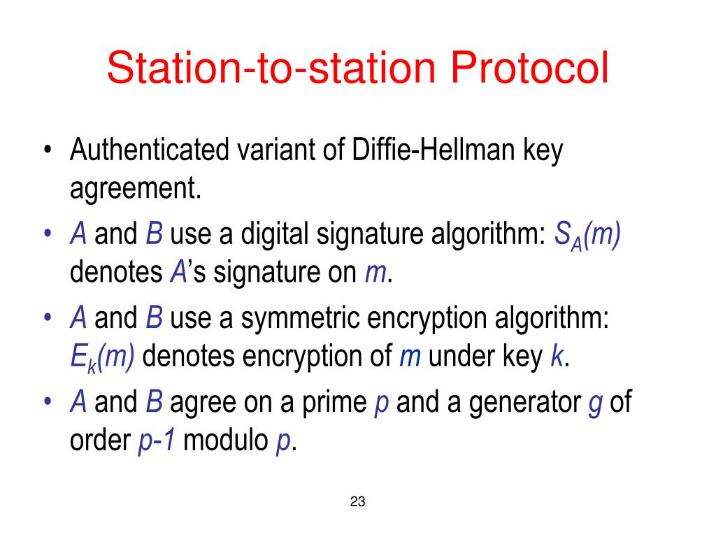 Station-to-station Protocol