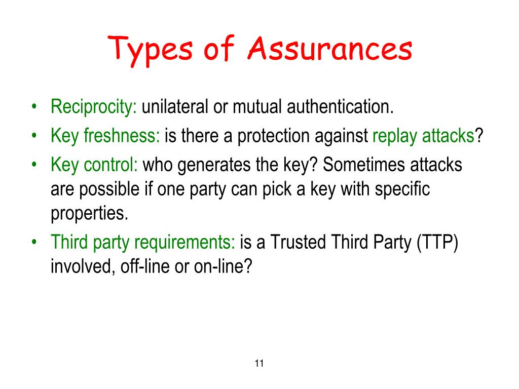 Types of Assurances