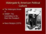 watergate american political culture