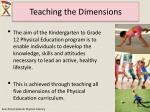 teaching the dimensions