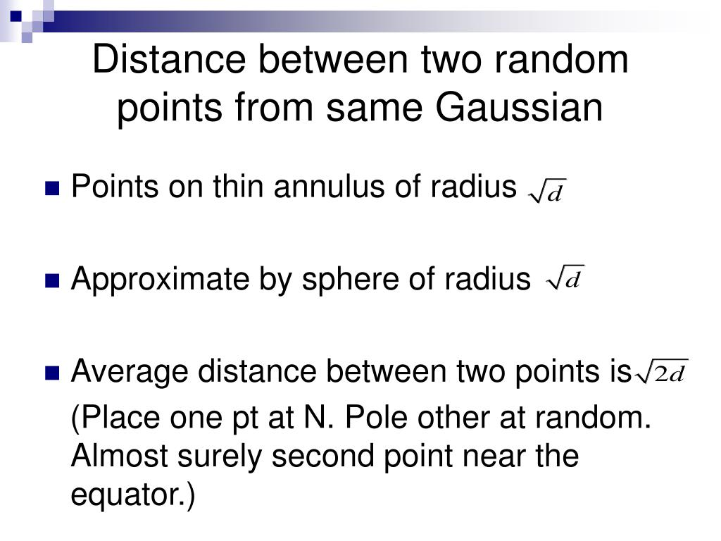 Distance between two random points from same Gaussian