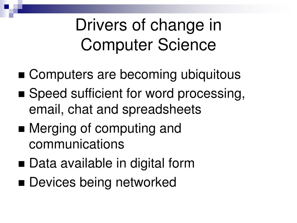 Drivers of change in