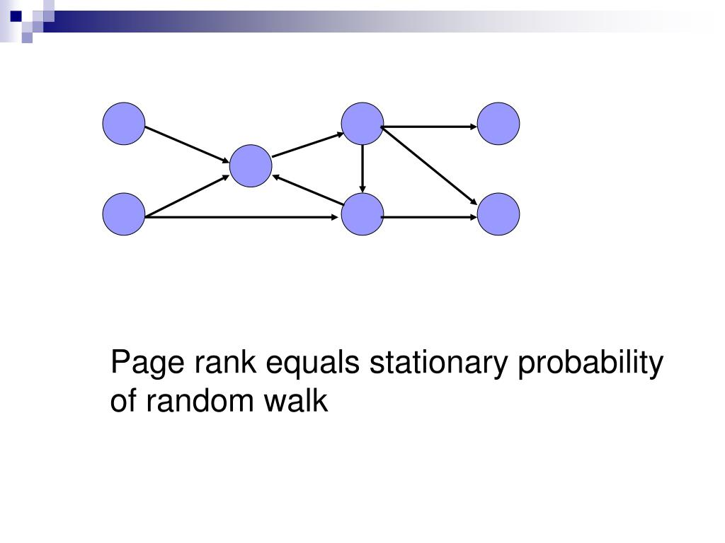 Page rank equals stationary probability of random walk