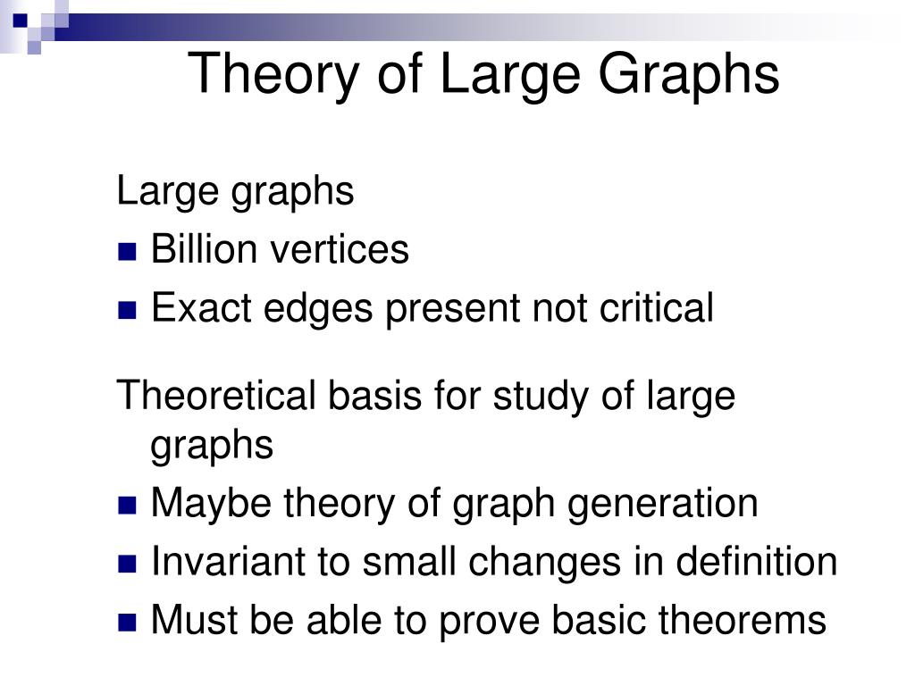 Theory of Large Graphs