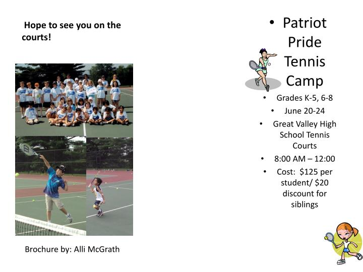 Hope to see you on the courts