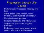 progression through life course