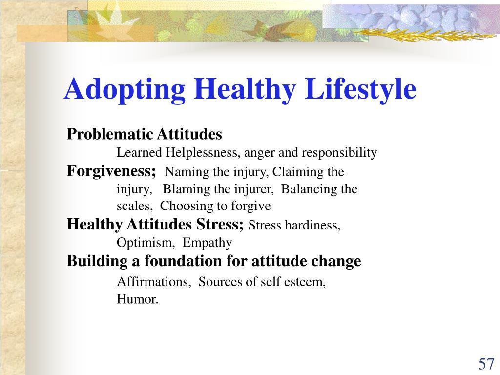 Adopting Healthy Lifestyle