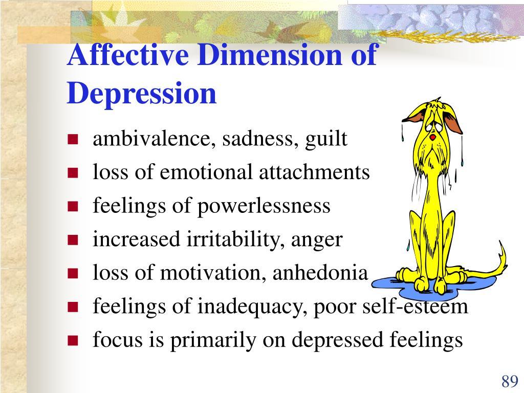 Affective Dimension of Depression