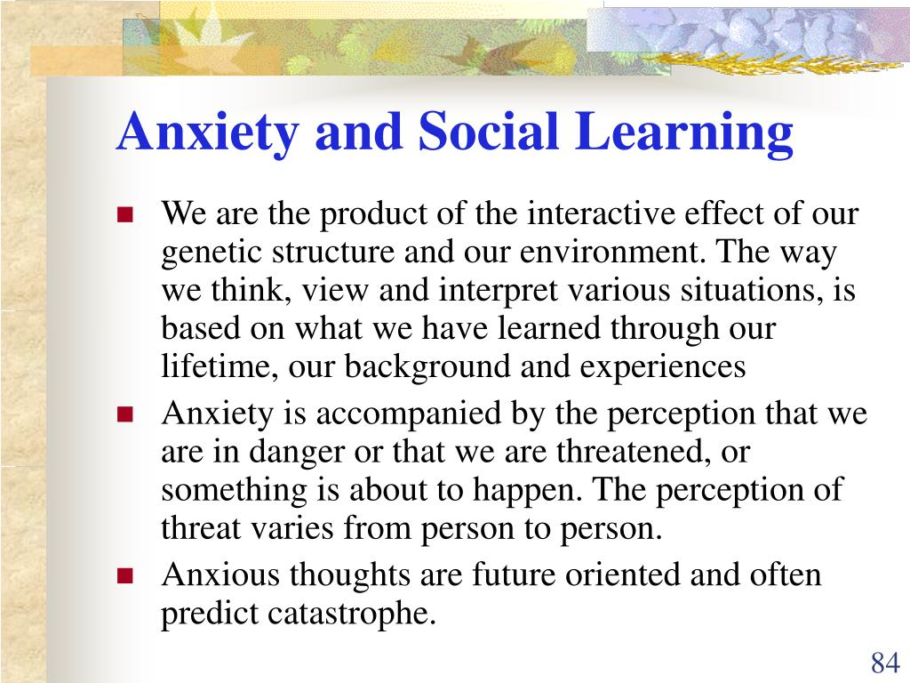 Anxiety and Social Learning