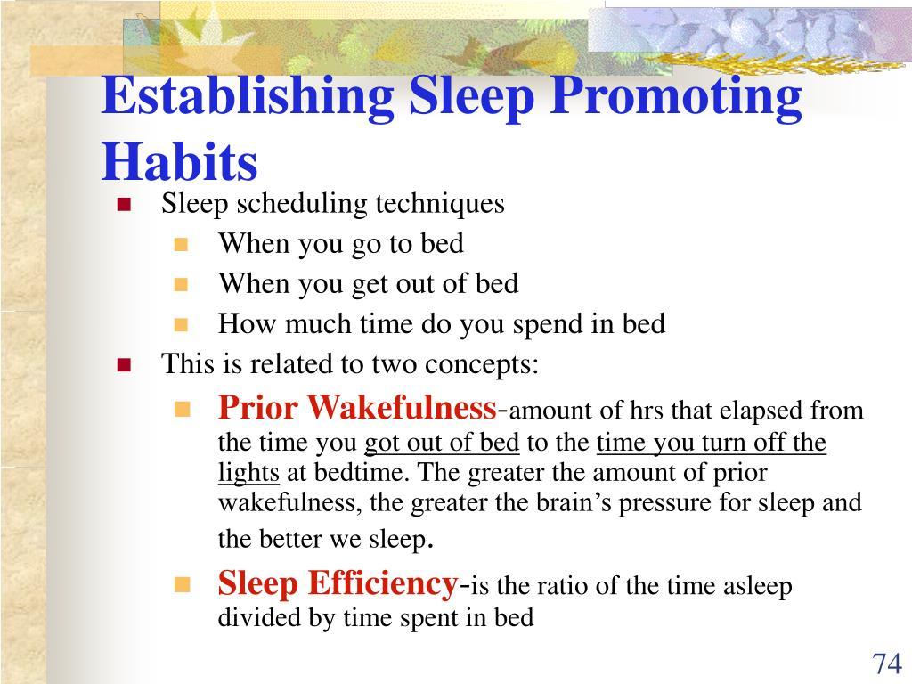Establishing Sleep Promoting