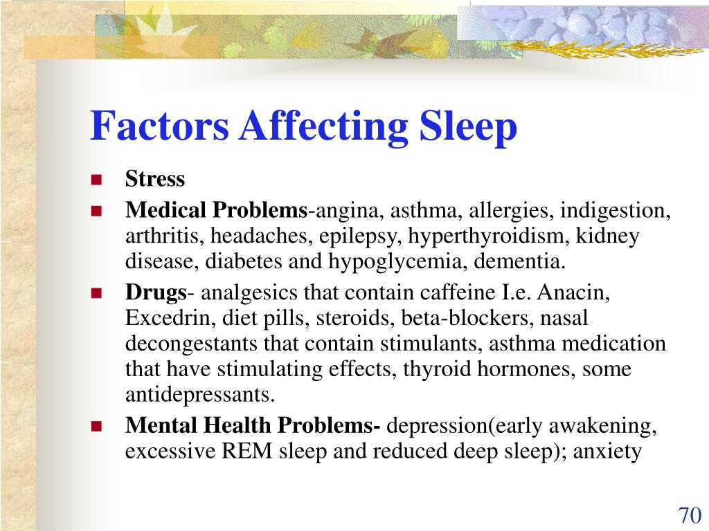 Factors Affecting Sleep
