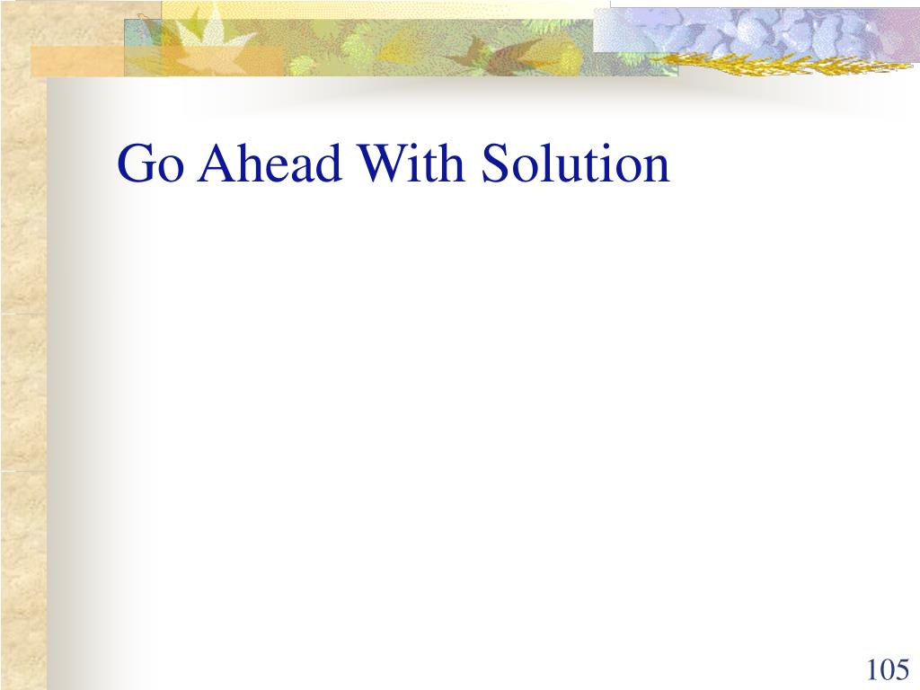Go Ahead With Solution