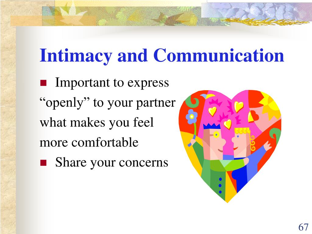 Intimacy and Communication