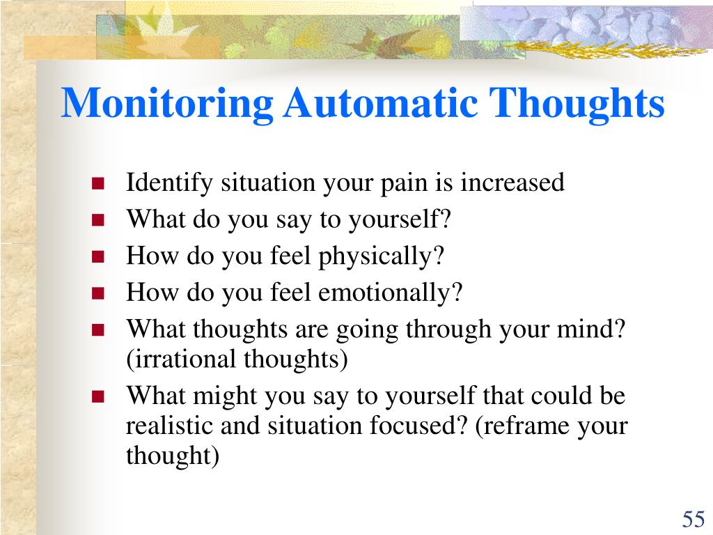 Monitoring Automatic Thoughts