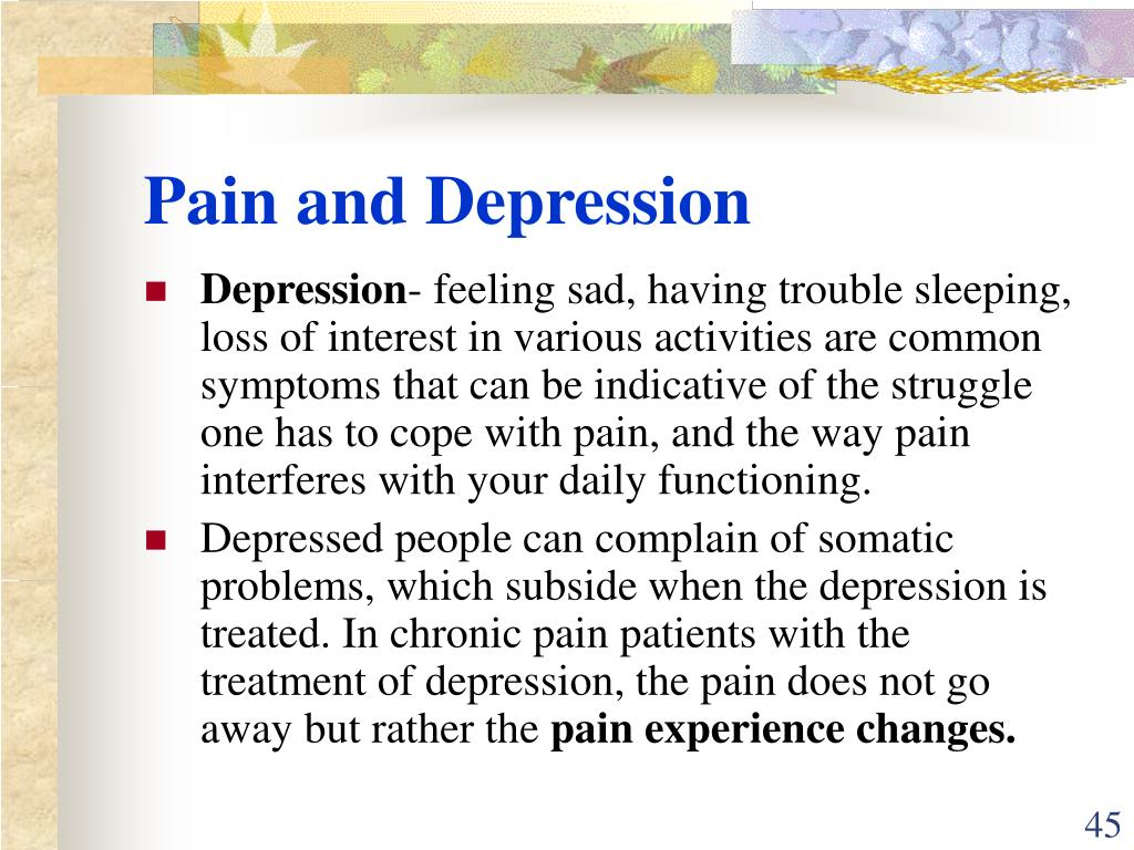 Pain and Depression