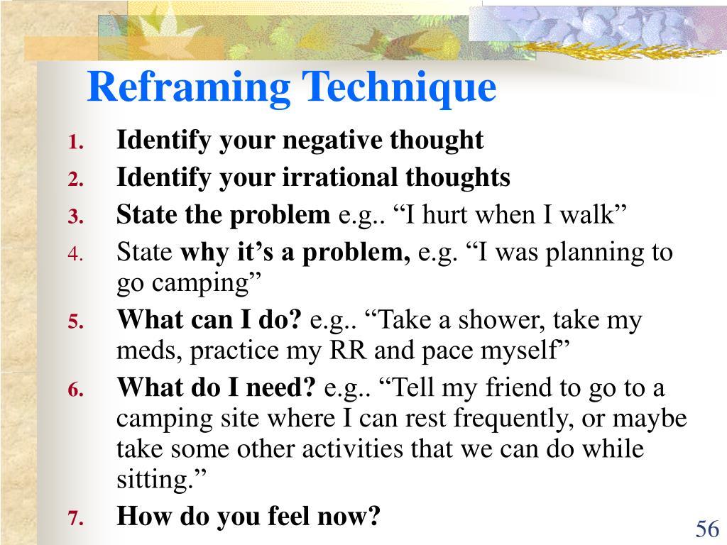 Reframing Technique