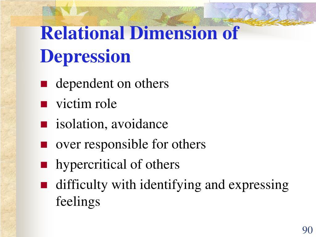 Relational Dimension of Depression