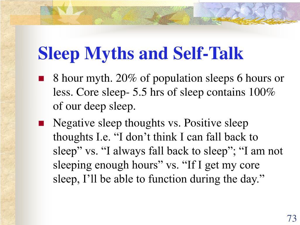 Sleep Myths and Self-Talk
