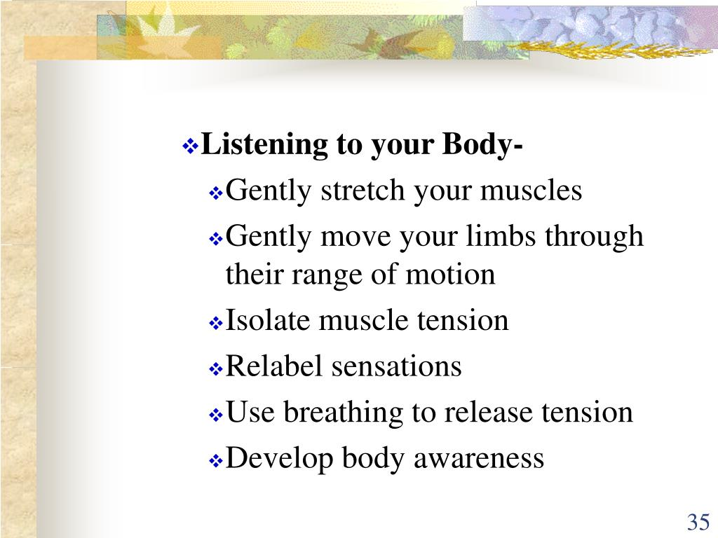 Listening to your Body-