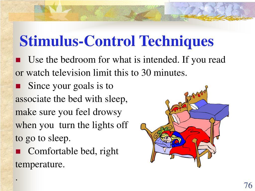 Stimulus-Control Techniques