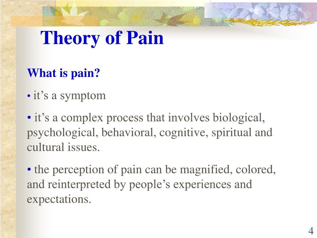 Theory of Pain