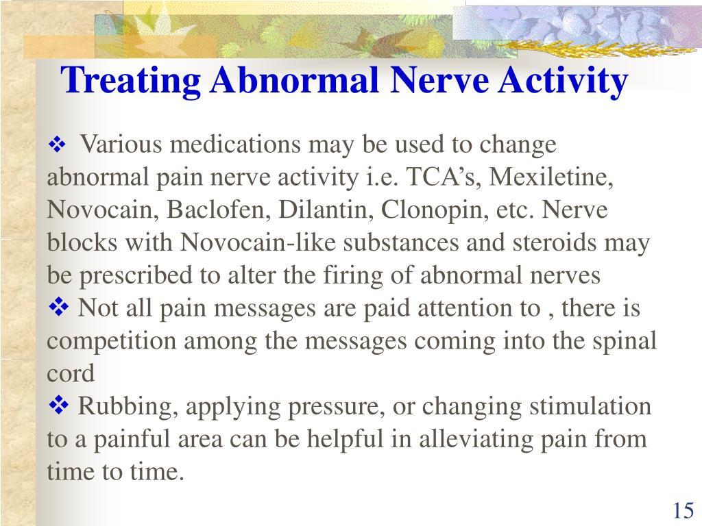 Treating Abnormal Nerve Activity