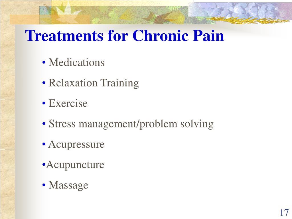 Treatments for Chronic Pain