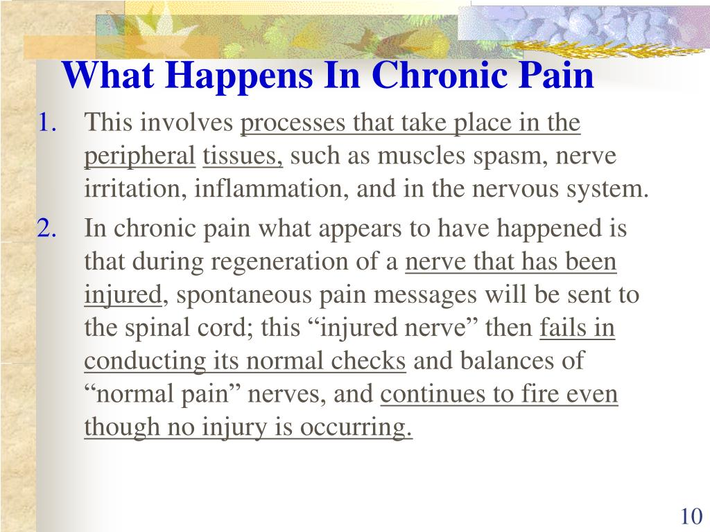 What Happens In Chronic Pain