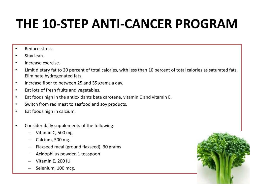 THE 10-STEP ANTI-CANCER PROGRAM