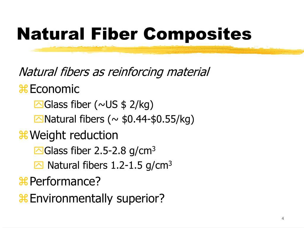 PPT - Are Natural Fiber Composites Environmentally Superior