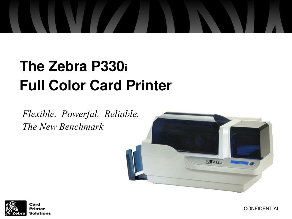 the zebra p330 i full color card printer l.